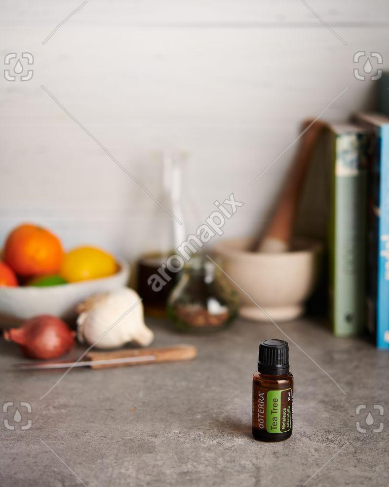 doTERRA Tea Tree on a kitchen bench
