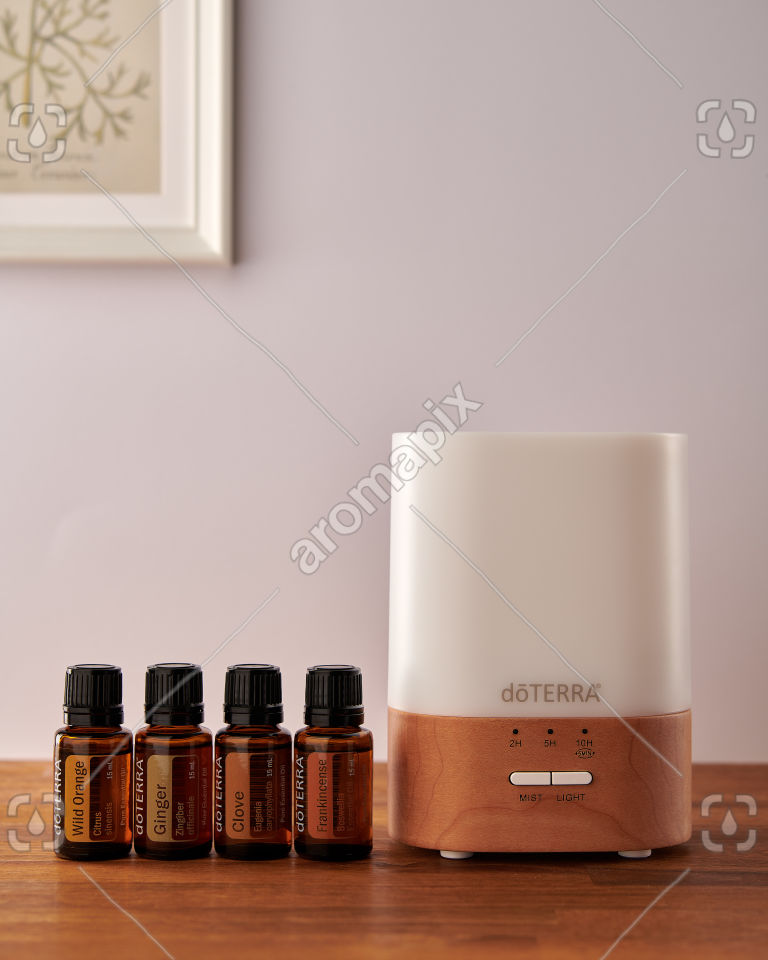 doTERRA Lumo diffuser with Wild Orange, Ginger, Clove and Frankincense
