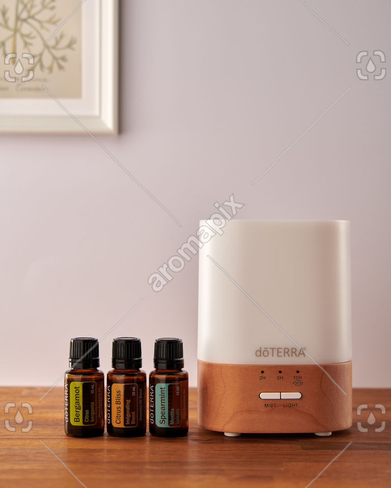 doTERRA Lumo diffuser with Bergamot, Citrus Bliss and Spearmint