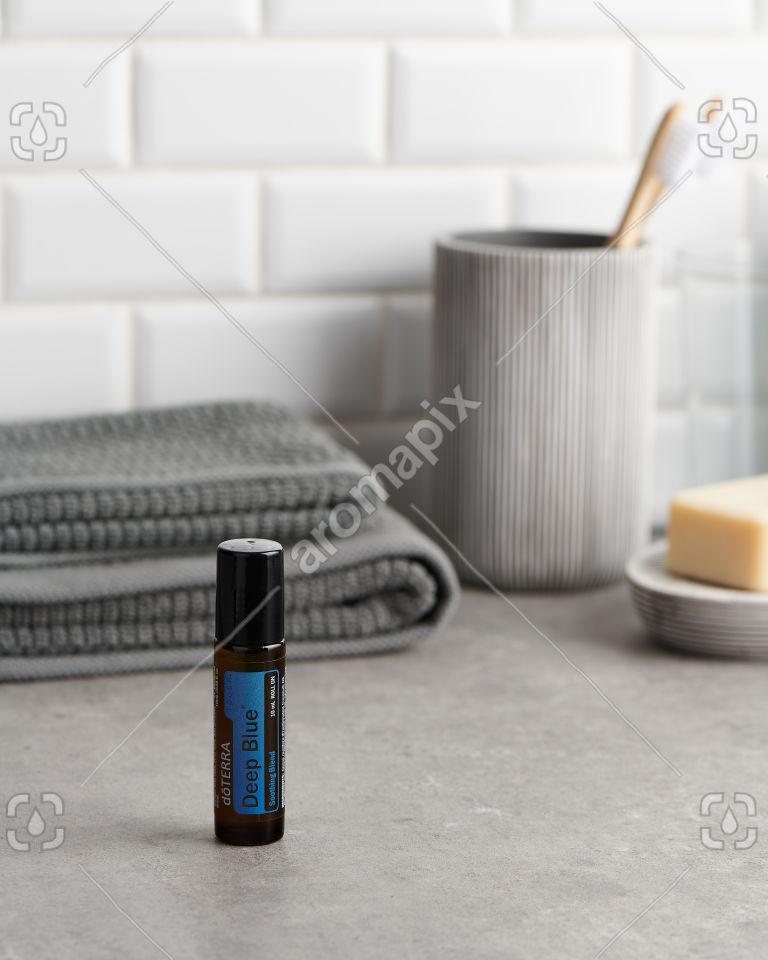 doTERRA Deep Blue Touch in the bathroom