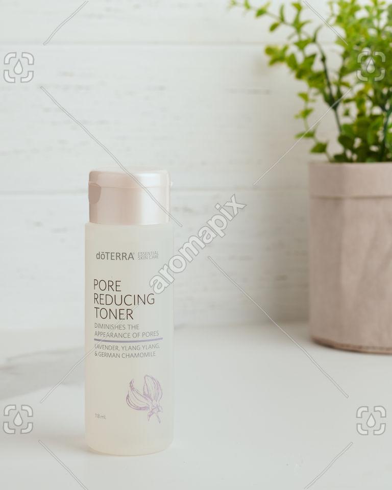doTERRA Essential Skin Care Pore Reducing Toner on white bench