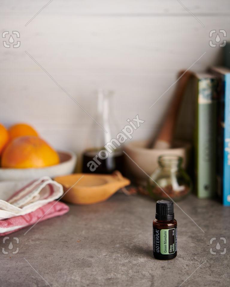 doTERRA Green Mandarin on a kitchen bench