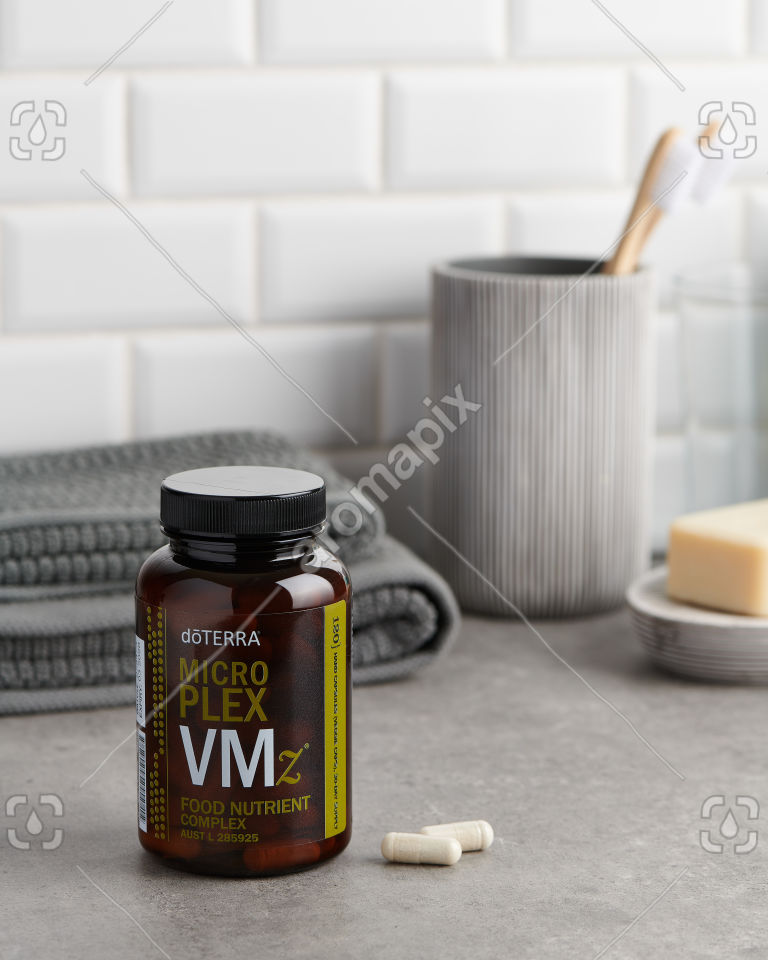 doTERRA Microplex VMz in the bathroom