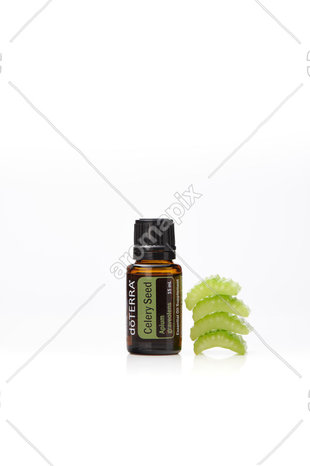 doTERRA Celery Seed on white