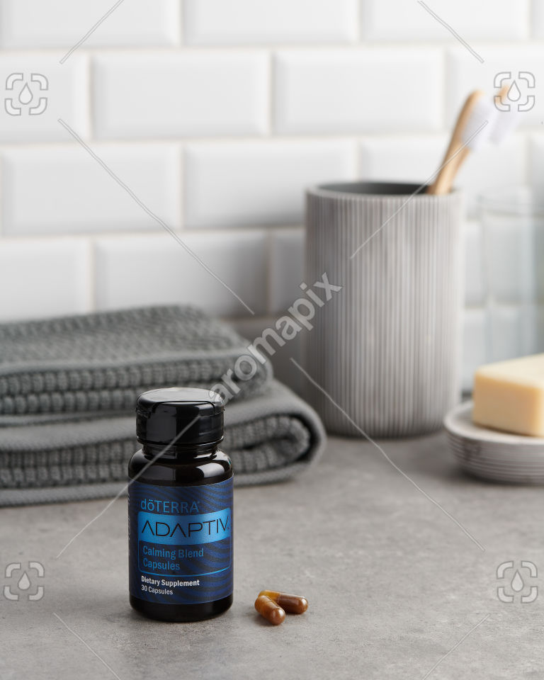 doTERRA Adaptiv Capsules in the bathroom