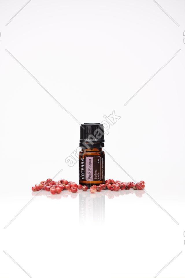 doTERRA Pink Pepper on white