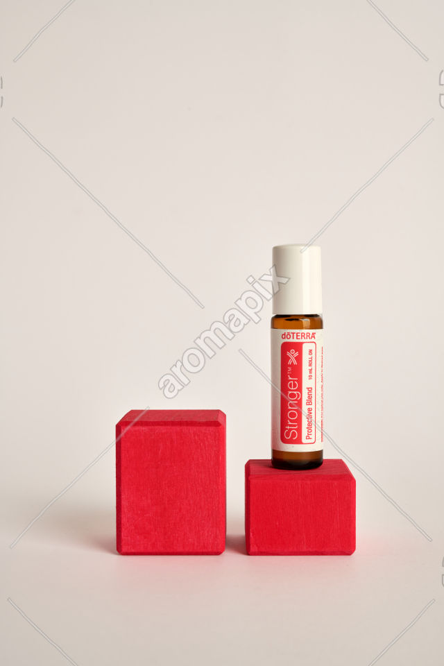 doTERRA Kids Oil Collection Stronger on a wood block