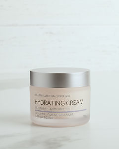 doTERRA Essential Skin Care Hydrating Cream in close up on a white background.