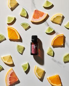 Images of doTERRA Citrus Bloom essential oil blend.