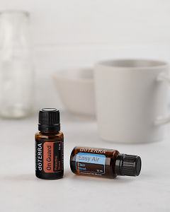 doTERRA On Guard 15ml and doTERRA Easy Air 15ml on a white background.