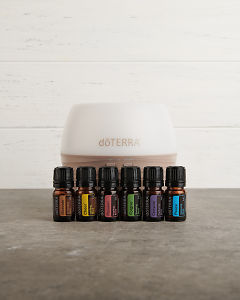 doTERRA Emotional Aromatherapy Enrolment Kit with copyspace for your message.
