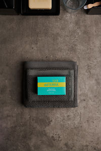 doTERRA Spa Moisturizing Bath Bar on some gray towels on a stone bathroom bench.